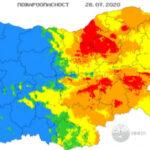 Екстремален индекс за пожароопасност в 7 области у нас