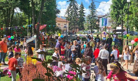 Деца се веселиха в парка в Ракитово